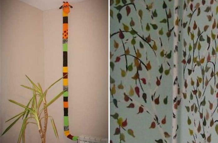 Декор труб отопления в детской комнате