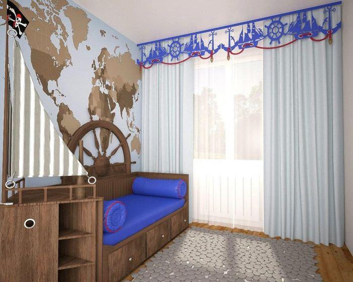 Декорирование карниза в детской комнате
