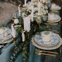 Декор стола ароматическими свечами