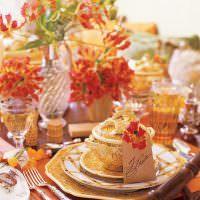 Красивая посуда с золотистым рисунком