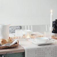 Сервировка стола для ужина в кругу семьи