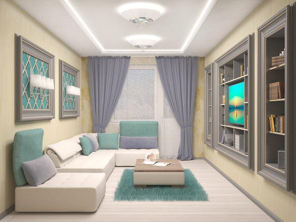 Дизайн современной гостиной в городской квартире