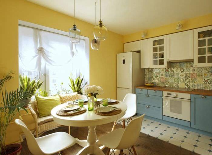 Интерьер кухни в двухкомнатной квартире 60 кв метров