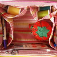 Шкатулка для ниток из картонной коробки