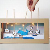 Кукольный театр из картонной коробки