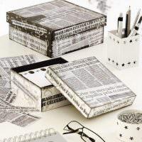 Декор коробок старыми газетами