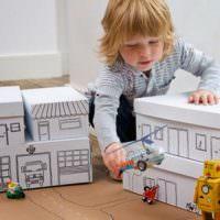 Детские домики из обувных коробок