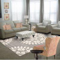 Дизайн гостиной с серой мебелью