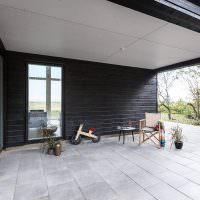 Терраса частного дома в скандинавском стиле