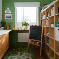 Грифельная доска на кухне дачного домика