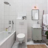 Зеленые растения в ванной комнате