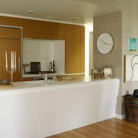 Акриловая барная стойка в кухне-гостиной