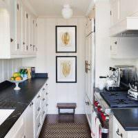 Двухрядная планировка кухонного пространства