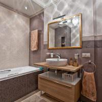 оттенки коричневого цвета в дизайне ванной