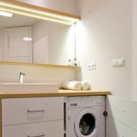 Место для стиральной машинки в ванной комнате