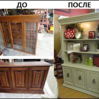 Пример реставрации кухонного шкафа