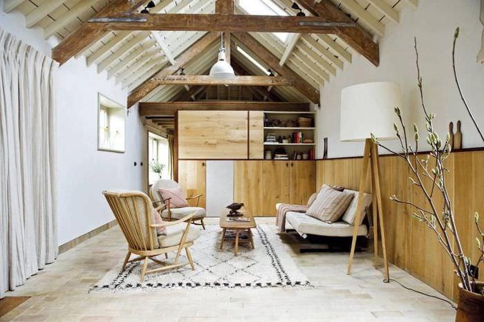 Интерьер небольшого дачного домика в скандинавском стиле