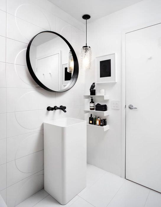 Декор ванной в стиле минимализма