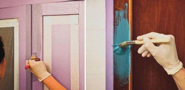 Окрашивание старого платяного шкафа своими руками