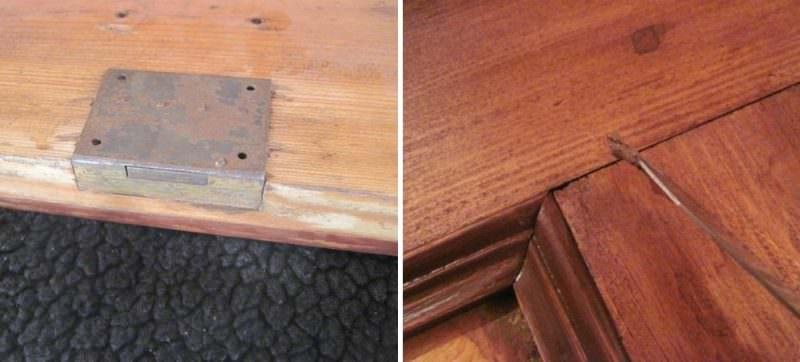 Восстановление отдельных элементов деревянного шкафа