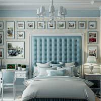 Фотографии автомобилей на стене спальни