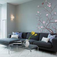 Темно-серый диван угловой конфигурации