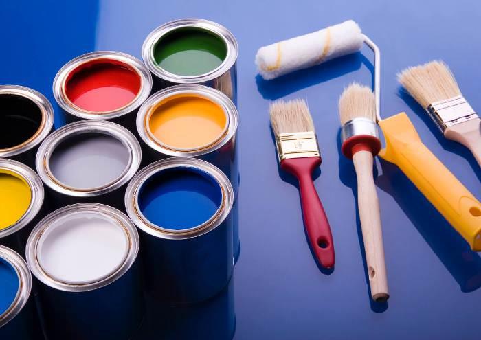 Акриловая краска для потолка.