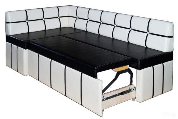Угловой кухонный диван с деревянным каркасом
