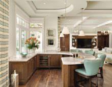барная стойка для кухни с функцией обеденного стола