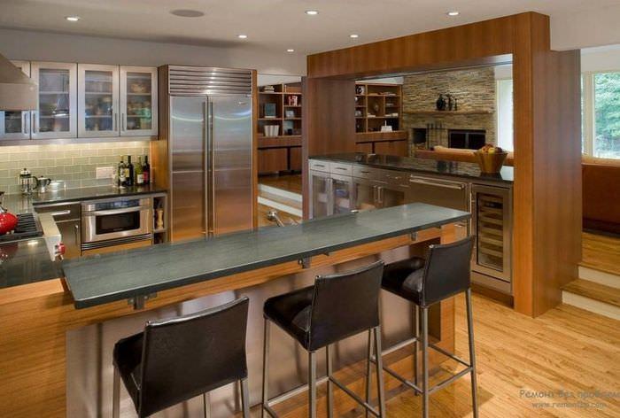 Красивые барные стойки на кухне фото