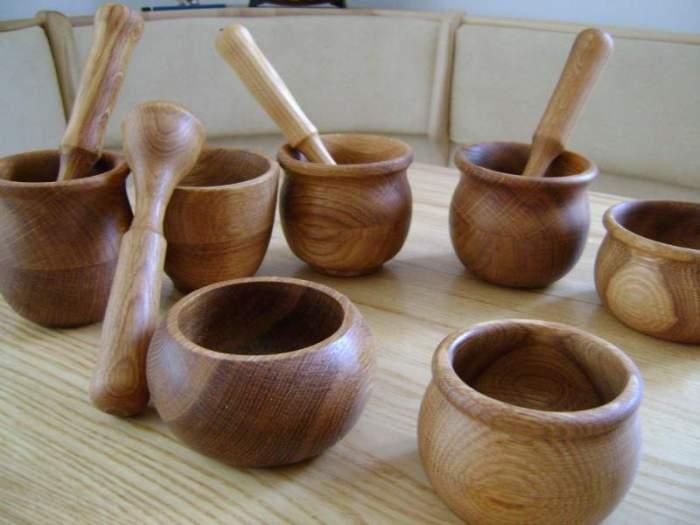Деревянная посуда.