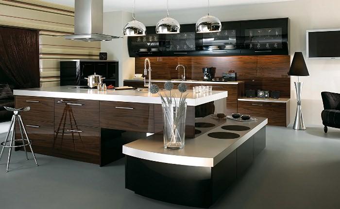 Дизайн кухни хай-тек