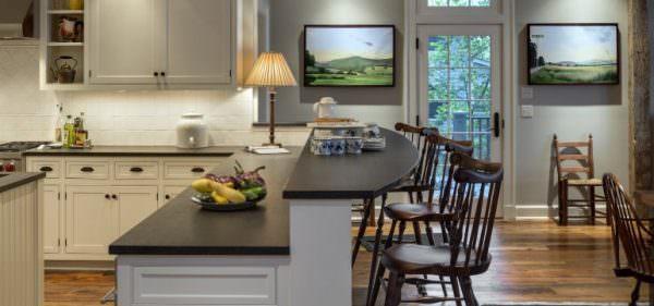 Двухуровневая барная стойка для кухни
