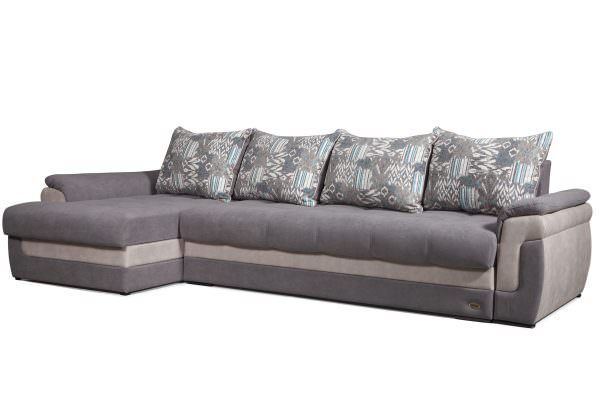 Угловой диван на кухню из ткани флок