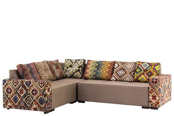 Угловой кухонный диван из гобеленовой ткани