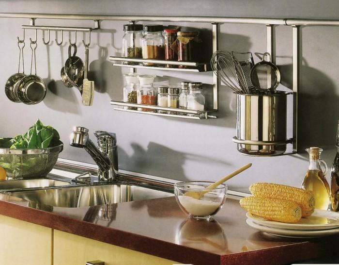 Рейлинг на кухне.
