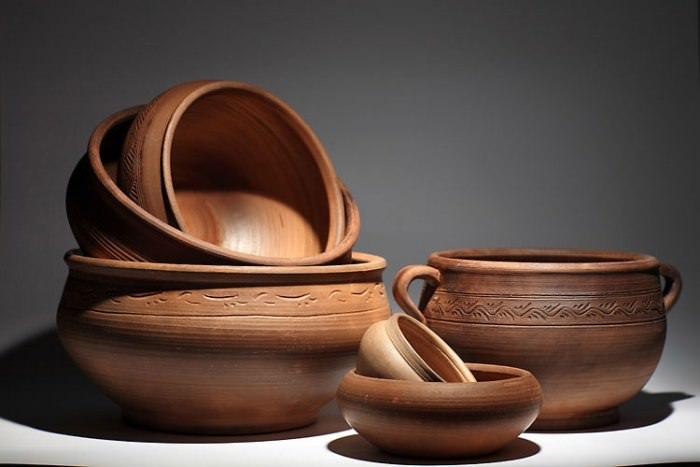 глиняная посуда.