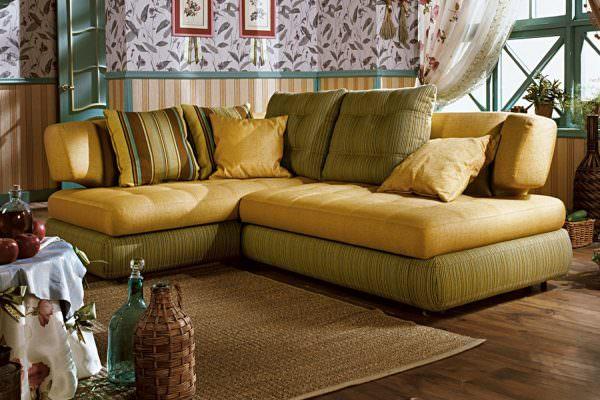 Кухонный диван с комфорелевыми волокнами