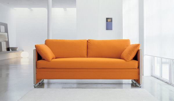 Велюровый диван для кухни