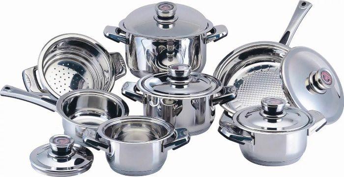 Металлическая посуда.