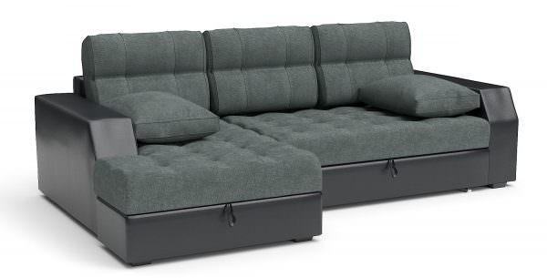Угловой диван на кухню из ткани шинил