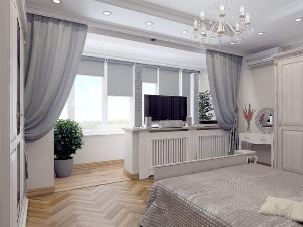Балконная лоджия-продолжение спальни