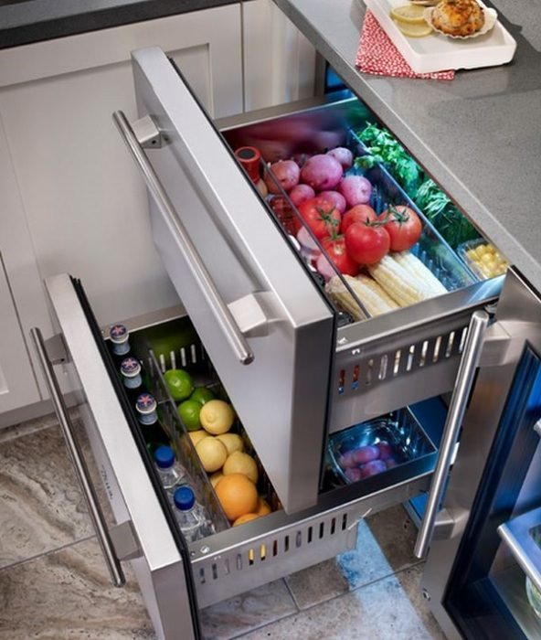Фреш зона в холодильнике.