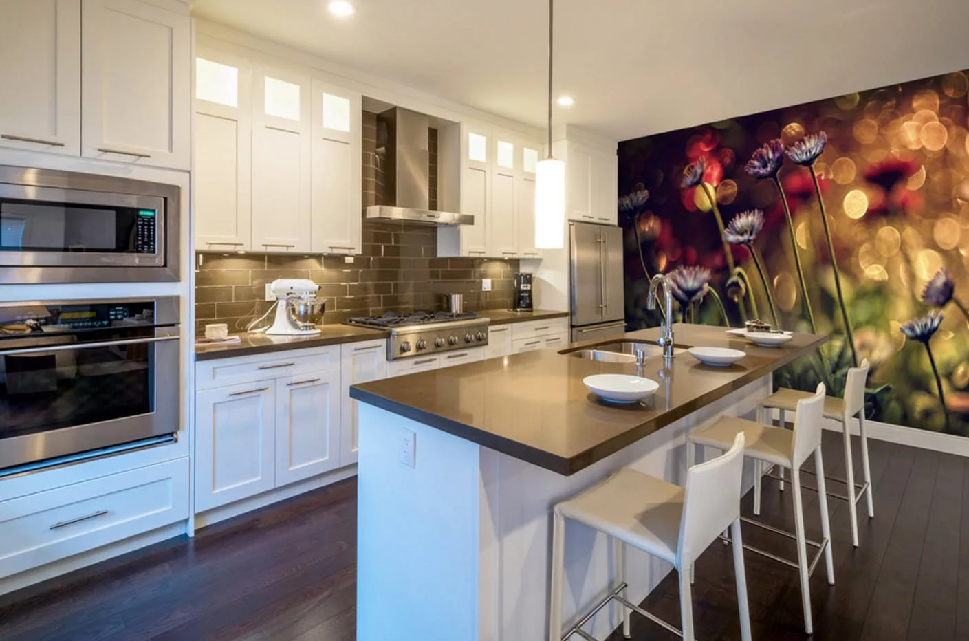 есть широкоформатные картинки на кухню преобразить свое жилье