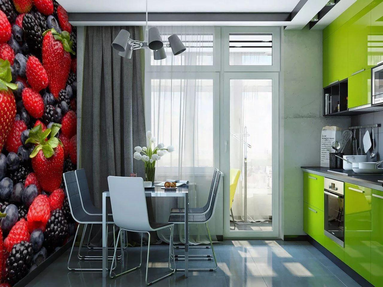 обои на кухню дизайн фото в квартиру окрашивают