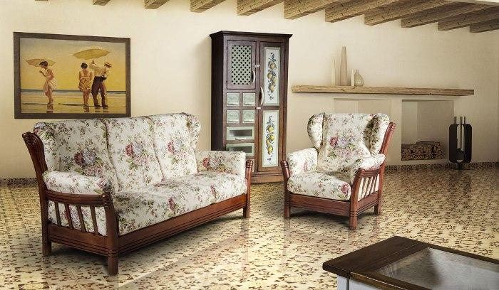 Оформление диванов прованс.
