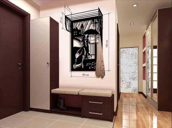 Вместо шкафа в коридоре можно разместить стильную вешалку
