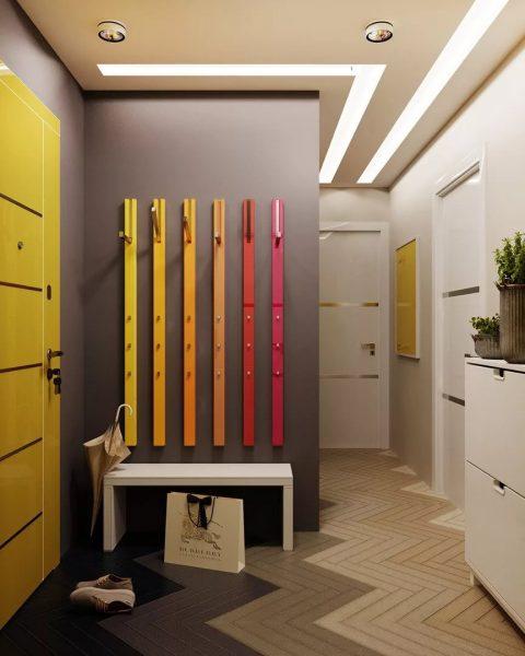Дизайн коридора в квартире студии
