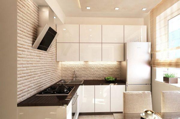Кухню в хрущевке предпочтительнее делать в светлых тонах