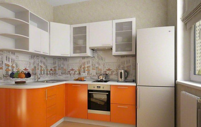 Дизайн малогабаритной кухни.